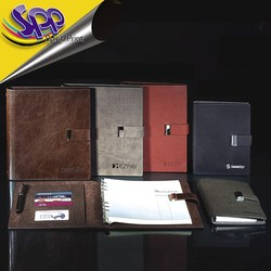 2015 promotional agenda A4 A5 A6 notebook pu leather cover