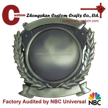 High quality insert metal plaque badge with screw