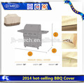 popular 2015 fábrica de parrilla de la barbacoa cubierta decorativa asador cubre