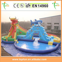 2015 Hot Sale Giant PVC Commercial Inflatable Water Park With Pool And Slide