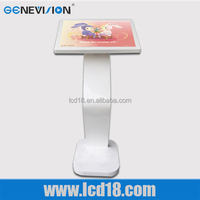 dual screen all-in-one kiosk stand pc touch screen with wifi lcd advertising display