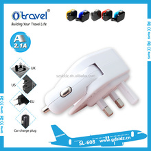 UK car charger usb 5V 2.1A