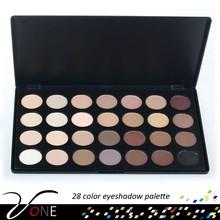 28 color matte eyeshadow palette case,nake color eye makeup kit