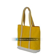 Yellow custom canvas foldable shopping bag