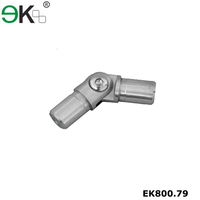 Heavy duty glass railing fitting aluminum square tube connector