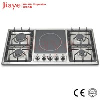 4 gas Sabaf burenrs and 1 induction heater hob, gas and electric cooker applianceJY-ES5002