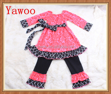 yawoo organic cotton baby clothing christmas floral city girl clothing for women daughter quatrefoil authentic kids clothing set