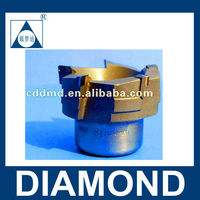 PCD 5 edges 45 degree face milling cutter