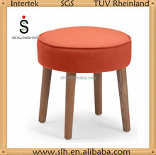 wooden round ottoman stool for living room