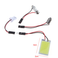 Universal White 5W COB Chip LED Car Interior Led Light COB Led T10 BA9S Adapter Festoon Dome Adapter for All Car