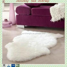 OEM Home using decoration white fur sheepskin rugs