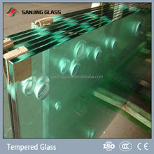 10mm tempered balcony panel glass
