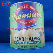 Brand Canned snow pear halves in light syrup, china canned food supplier