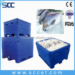 1000L big ice bins, ice box, ice container for storing fish