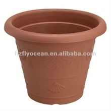 Fo-9807 redonda terracota vaso de plástico