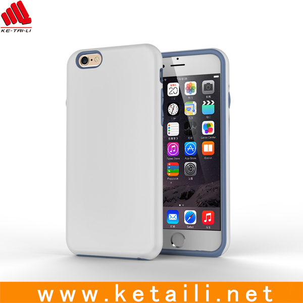 2 in 1 hybrid TPU PC case for iphone 6