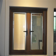 aluminum casement window with louver in side