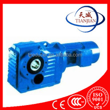 Tianjin manufacture k series bevel gear speed reducers for hoist