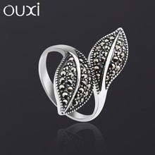 OUXI promotional thai antique sterling ring silver,vintage finger ring