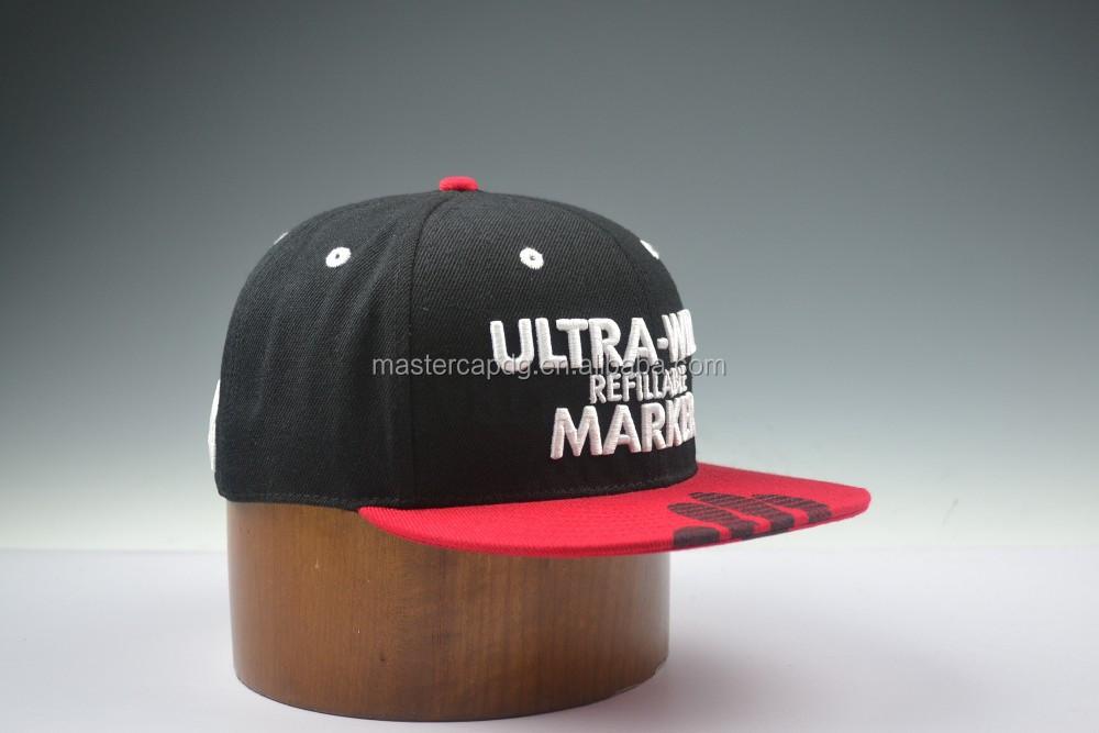 cool plain custom embroidery customize snapback hats flat