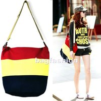 Ladies Korea Candy collocation Canvas Tote shopping Bag wholesale