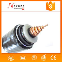 Alibaba supplier 220kv 1600mm2 power station copper conductor with CAS high voltage cable