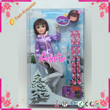 Black Long Hair Girl Fashion Doll Toy Hot Sell Baby Plastic Doll