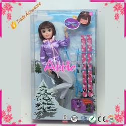 Black Long Hair Girl Fashion Doll Toy Hot Sell Baby Plastic Doll