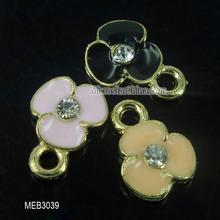 Lovely 9*9*3mm zinc alloy enamel charms pendant flower shape