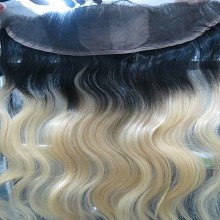 13x4 ombre 1b 613 lace frontal closure swiss lace body wave dark root blonde hair closure Free Shipping