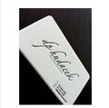 diseño personalizado 600 gsm papel de algodón tipografía de tarjetas de visita