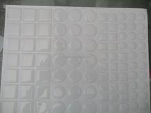 custom eco-friendly non-toxic self adhesive circle dot epoxy sticker