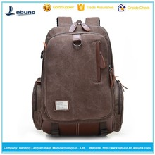 Latest disign high-quality vintage leisure canvas backpack bag daily backpack