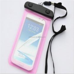Hot sale popular style three zippers PVC waterproof phone bag