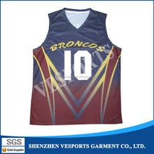 Cheap custom digital print basketball jersey
