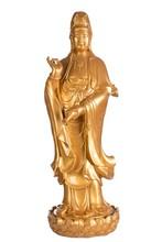 Golden classical art kuan yin statues