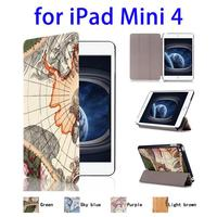 Cheap Wholesale Price 3 Folding Flip Leather Case for iPad Mini 4