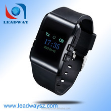 GPS GSM sim card watch phone tracker with rechargeable internal battery