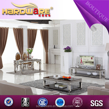 luxury design living room furniture stainless steel marble top tv stand