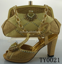 Pretty summer women high heel dress shoes with metal decoration