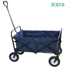 Blue folding utility beach wagon cart