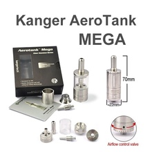 authentic Aerotank Mega 3.8ml Pyrex glass Stainless steel upgraded Dual coil Adjustable Airflow control Clearomizer