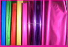 Colorful metallized PET film for gift packaging