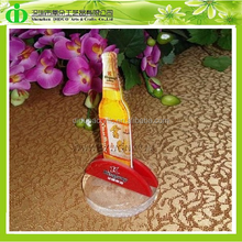 DDM-0029 ISO9001 Chinese Manufacture Individual Beer Bottle Shape Drink Menu Holder