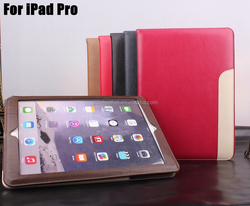 2016 Newest Custom Ultra Slim Flip PU Leather Tablet Cover For iPad Pro Case