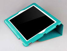 For ipad mini smart cover in green color,leathercase for mini ipad