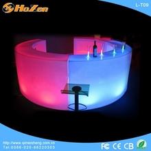 Polyethylene illuminated bar interactive led table