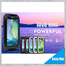 High Quality product for Samsung Galaxy A3 Love Mei Waterproof Powerful Cover for Samsung Galaxy A3 mobile phone case