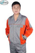 EN11611 tear resistant orange grey long sleeves fire retardant welding jackets