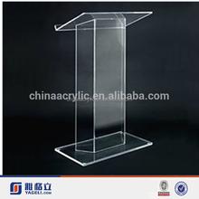 High quality SImple Custom Shaped Plexiglass Clear Acrylic Podium Pulpit Lectern Church Pulpit